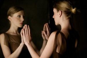 Woman Looking at Reflection